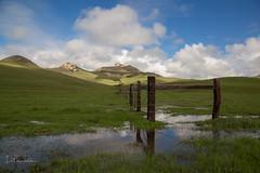 Blue skies reflecting on Turri Road (roederspeech) Tags: blueskies reflections betweenrainshowers landscapes greenhills
