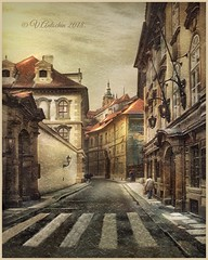 """from the series """"Walking in Prague."""" (odinvadim) Tags: iphoneart landscape iphoneonly iphonex iphoneography church winter mytravelgram painterlymobileart old iphone snapseed evening travel artist oldhouse textured editmaster textures prague icolorama"""
