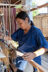 RFE 7090 to 3360 Phrae Day 1  by Terry Babij--3537 (Terry Babij) Tags: 2018 fabric fiolk historic looms musicalinstrumentmaker phrae rfe rfe2018 thailand tradionalinstruments weaving