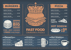 Vector illustration of a design fast food restaurant menu, a cafe with a hand-drawn graphics. (rafsanjani1786) Tags: food advertising menu fast burger vector vintage restaurant design template cafe illustration hamburger invite icon hot banner background poster dog drink brochure special flyer offer layout breakfast lunch dinner fastfood meal coffee snack cheeseburger unhealthy element economy engraving pizza cake soup business hipster american barbecue creative grill italian label paper