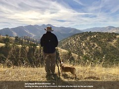"""""""Jerry Brown to Become Rancher"""" (Melinda * Young) Tags: news jerrybrown sfchronicle photograph mountains newsworthy governor california government change retiring dog hat man politician history ranch"""