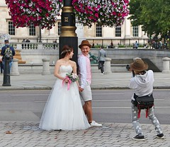 Photo the Photographer (Waterford_Man) Tags: london wedding photographer couple england candid street