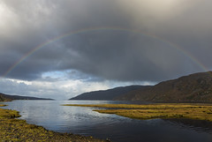 Little Loch Broom Rainbow (syf22) Tags: scotland rosscromarty landscape scenic scenery countryside opencountry westofscotland cloudscape clouds moody storm stormy clearing shower changeable cloudy sky cloudysky overcast weather forecast rainbow arch round colourful multicolour colours sunny view panoramic