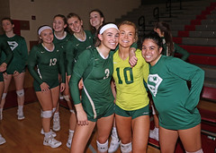 IMG_3179 (SJH Foto) Tags: girls high school volleyball bishop shanahan hempfield state pool play championships canon 1018 f4556 stm superwide lens pregame ceremonies ref referee captains coin toss huddle cheer