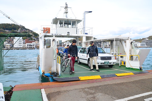 The car ferry that runs between Onomichi and Mukaishima
