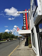Olympic Theatre (John Coursey) Tags: olympic arlington washington wa urban downtown uptown mainstreet marquee theater theatrecinemaejcoursey