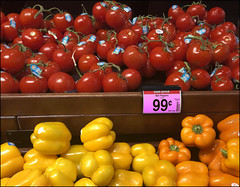 (Cliff Michaels) Tags: iphone8 photoshop pse9 kroger tomatoes peppers