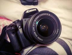 New camera (rebeccajanemasterson) Tags: photography photographer camera canon eos 450d canoneos450d black