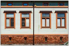 Untitled 00.82 (ViTaRu) Tags: olympus omd em10 m43 microfourthirds mzuiko 1442mm building wall facade windows bricks boards symmetry pattern geometric vintage pipe basement attic colors shades portsa turku varsinaissuomi finland