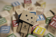 A Block-head in  Blocks (N.the.Kudzu) Tags: tabletop stilllife danboard danbo wooden blocks canondslr lensbabysweet35 lightroom