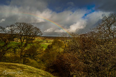 Moorland Rainbow (pygarian_nox) Tags: rainbow abney derbyshire countryside moors fields trees sky