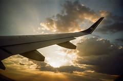 Sunset (Schwantes (Analog Photography)) Tags: lomo kodak proimage iso100 c41 jetplane sky sunset lca