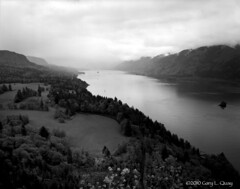 Cape Horn, May 2010 (Gary L. Quay) Tags: capehorn columbiagorge washington storm wind columbiariver columbiarivergorge spring river water clouds oregon film blackandwhite bw sinar kodak hc110 nikkor garyquay