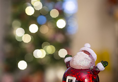 Hooray for Christmas! (s.d.sea) Tags: pentax k5iis 35mm macro santa christmas tree lights bokeh toy claus joy happy celebrate festive season winter holiday decorations decor fun home washington washingtonstate wa pacificnorthwest pnw