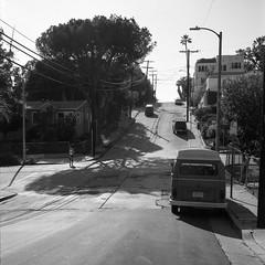 Shadow Hill (ADMurr) Tags: la los angeles vw microbus hill cypress rolleiflex 35 e kodak 400 bw black white monochrome square 2017 daa944