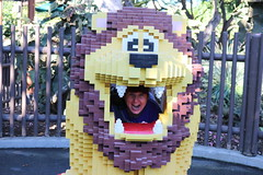 "Tracey inside a Lego lion • <a style=""font-size:0.8em;"" href=""http://www.flickr.com/photos/28558260@N04/45567234264/"" target=""_blank"">View on Flickr</a>"