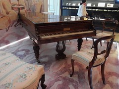 Chopin's Last Piano (mikecogh) Tags: warsaw chopinmuseum piano old chopin chair authentic remarkable