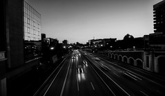 Highways (Lea Ruiz Donoso) Tags: españa spain madrid comunidaddemadrid coches cars largaexposición longexposure estelas trails light lighttrails ciudad city urbanlandscape street calle a2 carretera road architecture arquitectura paisajeurbano