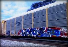 (timetomakethepasta) Tags: deja wyse d30 dirty30 nekst freight train graffiti art ns autorack norfolk southern