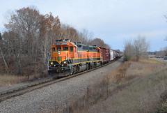 Geeps on the NTWGFD (wc_sd45_7500) Tags: bnsf gp382 gp402 staples sub randall train trains railroad locomotive
