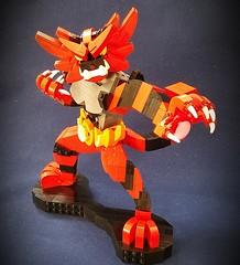 Pokemon: Incineroar (retinence) Tags: lego pokemon fire dark incineroar character moc smash brothers