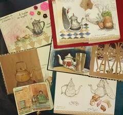 A l'heure du thé (Nathalie Lefebvre 76) Tags: croquis carnet carnets carnetdevoyage aquarelle gouache maroc marrakech morocco essaouira dessin atay thé théière théàlamenthe