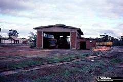3789 Watheroo Loco shed6 June 1983 (RailWA) Tags: railwa philmelling westrail 1983 midland railway loco shed watheroo