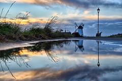 Lytham St Annes Reflections. (Jason Connolly) Tags: lytham lythamwindmill puddle puddlereflections lythamstannes lancashire lancashirelandscape fyldecoast fylde fyldecoastsunset