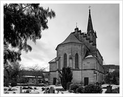 Ersatzneubau (https://www.norbert-kaiser-foto.de/) Tags: berggieshübel östlicheserzgebirgsvorland elbtalschiefergebirge kirche church sandstein sandstone neugotik architektur sachsen saxony schwarzweis blackwhite