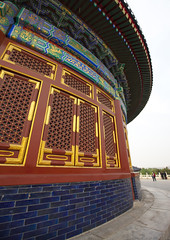 Temple Of Heaven, Beijing, China (Eric Lafforgue) Tags: mg0080 ancientcivilization architecture asia beijing buildingexterior china chineseculture city colorpicture day dome famousplace groupofpeople heaven history internationallandmark lowangleview outdoor pekin placeofinterest placeofworship realpeople religion spirituality temple templeofheaven tourism traditionallychinese traveldestinations vertical