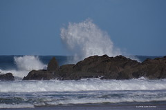 3KA09718a_C (Kernowfile) Tags: cornwall cornish porthmeorbeach stives sea water waves breakingwaves spray splash rocks foam sand