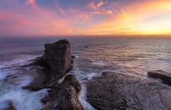 Serene Sunset (naturepixelsphotography) Tags: ifttt 500px cliff rocky coastline headland seascape rock formation sundown coast cove sunset seaside dusk evening colorful sky water ocean pacific santa cruz