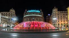 Genova by night (M-Gianca) Tags: genova città city notte night sony a6500 architettura edifici fontana fountain piazza square