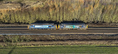 37606 and 37038 near Stenson Junction (robmcrorie) Tags: 37606 37038 class 37 crewe derby etc phantom 4 willington finders derbushire findern