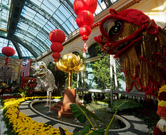 Lion Dragons for Chinese New Year at the Bellagio (wirehead) Tags: em5mk2 918mm vacation travel newyear bellagio