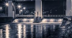 Night - 6259 (ΨᗩSᗰIᘉᗴ HᗴᘉS +37 000 000 thx) Tags: night lx15 water écluse sambre fleuve river hens yasmine namur belgium europa aaa namuroise photo friends be yasminehens interest eu fr lanamuroise monochrome