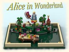 Alice in Wonderland Pop-up Book (Playwell Bricks) Tags: lego legotechniques legoideas legopopup legocontest legobook aliceinwonderland alice cheshirecat madhatter madhattersteaparty redqueen thecaterpillar wonderland art design engineering creativity