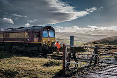 Room for two (Mark Gowing) Tags: 66111 class66 cwmbargoed coaltrain