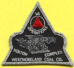 Westmoreland Coal Company Holton Complex Patch (Coalminer5) Tags: coalmining coalminer coalmemorabilia coalcollectibles mining miningmemorabilia miningcollectible miningartifacts patch sewonpatch westmoreland westmorelandcoal holtoncomplex virginiacoal continuousminer