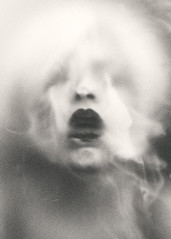 Coma (EbruSidar) Tags: photography woman female portrait headshot face blowing atmospheric mysterious lips smoke mouthopen mouth