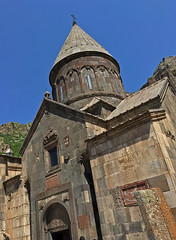Geghard Monastery (cowyeow) Tags: armenia caucuses composition landscape geghard monastery geghardmonastery old travel historical architecture orthodoxchristianity church