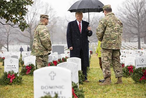 President Donald J. Trump Visits Arlington National Cemetary