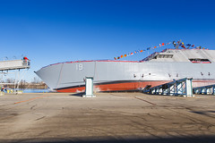 20181215_Y5A8622_m (LCS Team Freedom) Tags: 2018 christening lcs lcs19 launch littoralcombatship marinette shipyard stlouis usnavy usn wi wisconsin