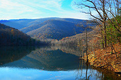 Sugar Hollow Reservior (GreyGryphonPhoto) Tags: rural landscape blueridge nature outdoors countryside nikond5100 charlottesville albemarle virginia autumn color