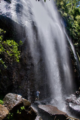 Walking behind the waterfall (Tatters ✾) Tags: australia brisbane springbrook nationalpark waterfalls