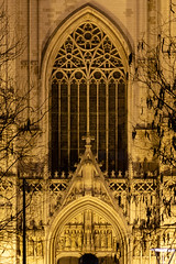 Cathedral of St Michael and St Gudula (itmpa) Tags: brussels brusselscapitalregion belgium be cathedralofstmichaelandstgudula stmichael stgudula cathedral church romancatholic catholic 13thcentury completed 1519 16thcentury evening night floodlit lit archhist itmpa tomparnell canon 6d canon6d