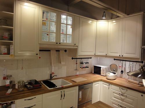 カントリー風イケアのキッチンと題した写真