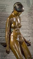 Measuring Up (dayman1776) Tags: sony a6000 telephoto brookgreen gardens south carolina myrtle beach bronze sculpture escultura statue skulptur sculptor sculptures beautiful woman girl female figurative art museum nude