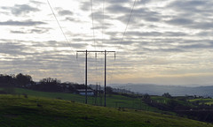 There is electricity in them thar hills (conall..) Tags: electricity knockavoe hill tyrone strabane pylon wires