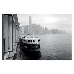 A Star In Waiting (Ian Smith (Studio72)) Tags: rx100 sonyrx100 sony hongkong starferry ferry boat transport transportation hk urban city cityscape port kowloon 2ifc victoriaharbour blackandwhite bw bnw nb mono monochrome studio72